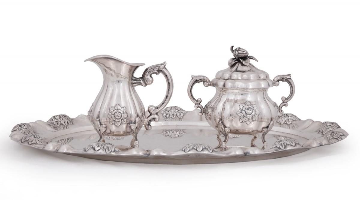 Srebrny komplet do kawy i herbaty