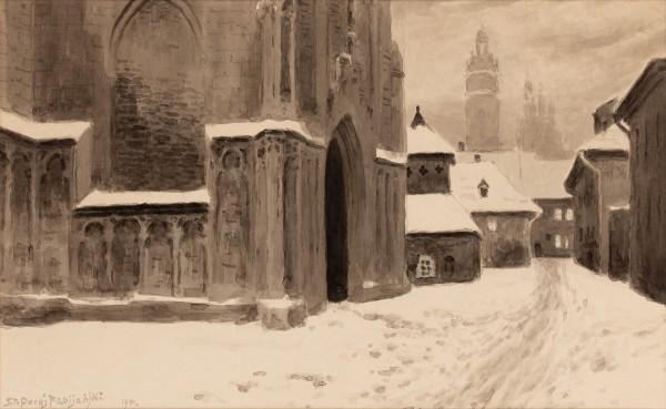 """""""Przed kościołem św. Katarzyny"""""""