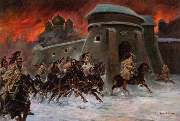 """""""Napoleon na tle płonącej Moskwy"""""""