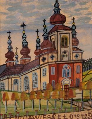 """""""Jesień. Kościół w Krynicy"""""""