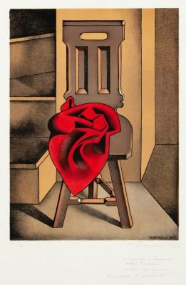 """""""Krzesło z czerwoną draperią"""""""