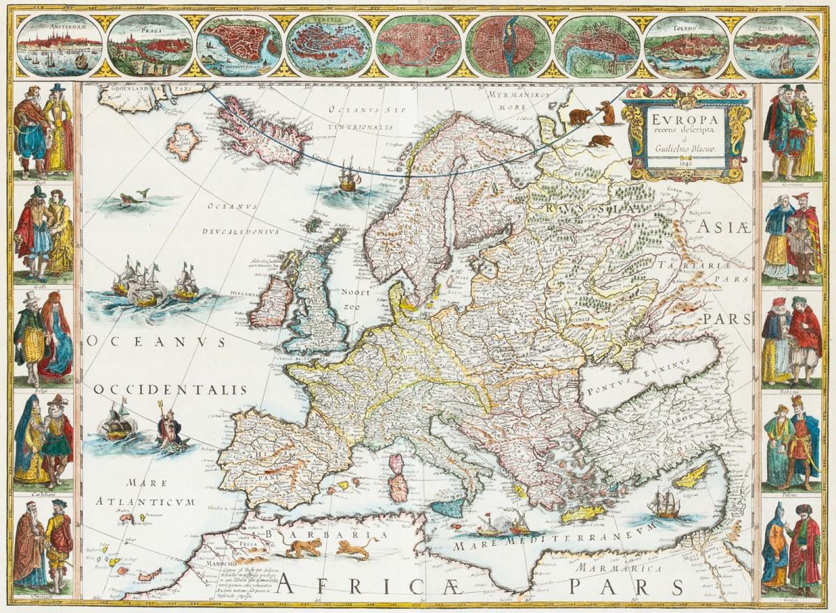 """""""Mapa Europy (Europa recens descripta à Guilielmo Blaeuw)"""""""
