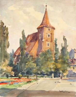 Kraków – widok na kościół św. Krzyża