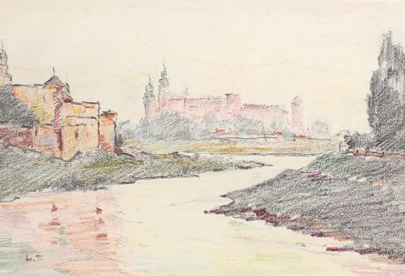 Zakole Wisły z widokiem na Wawel