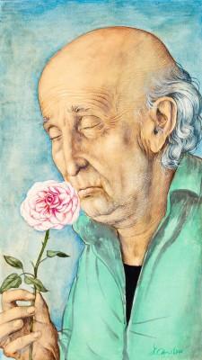 """""""Stary człowiek z różą"""""""