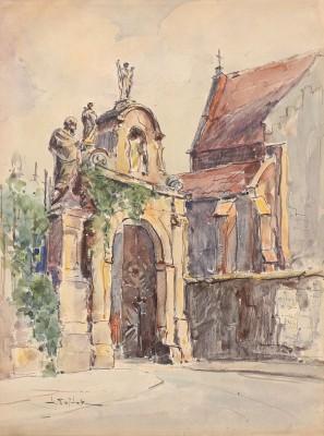 Kraków - brama przy kościele śś. Piotra i Pawła