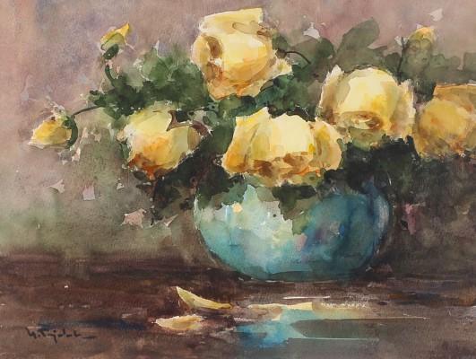 Róże w wazonie