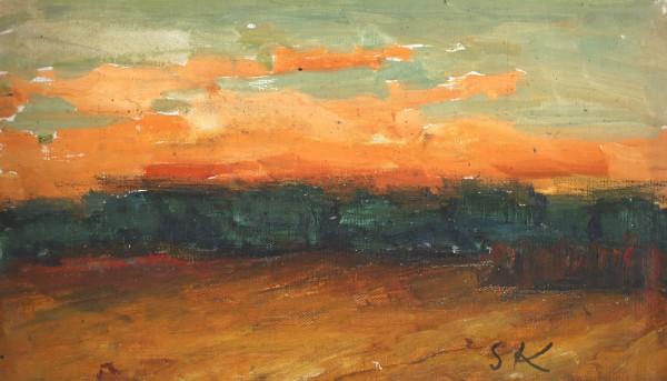 Zielony zachód słońca