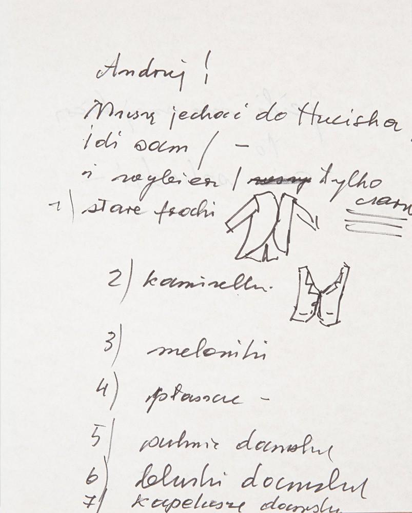 list do Andrzeja Wełmińskiego