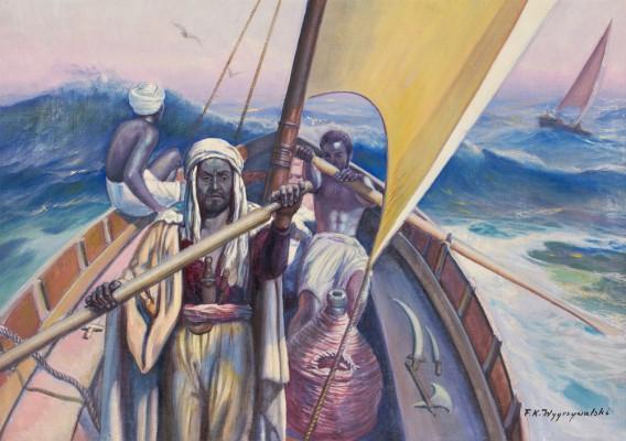 Na łodzi
