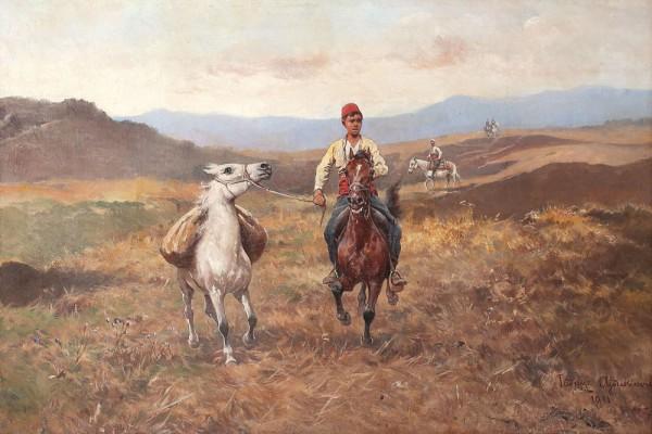 Jeździec z luzakiem