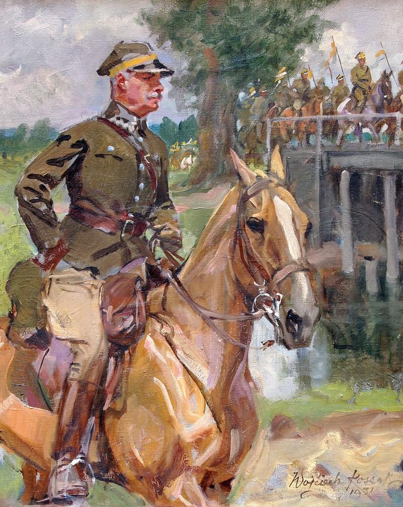 Autoportret w mundurze ułańskim