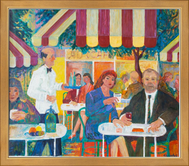 """Autoportret w kawiarni na Montmartre"""